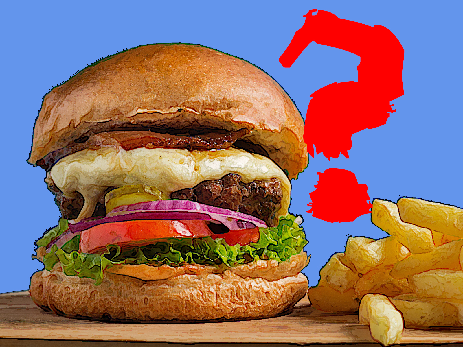 food-junk-burger-question